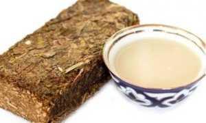 Прессованный плиточный калмыцкий чай Джомба