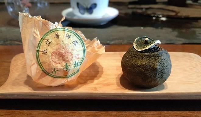 Пуэр в мандарине с упаковкой