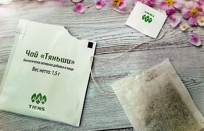 Пакетик чая Тяньши