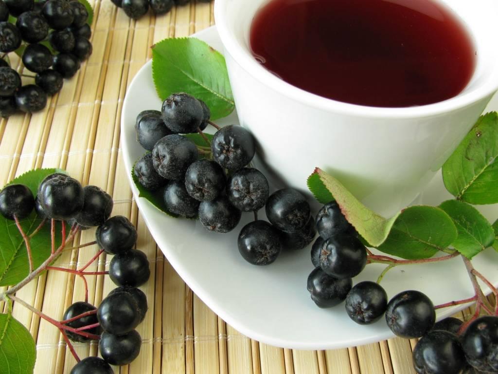 Чай с черноплодной рябиной
