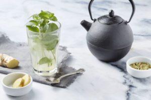 Зеленый чай с имбирем и кардамоном